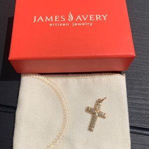 James Avery Plain Latin Cross 14k Gold (small)